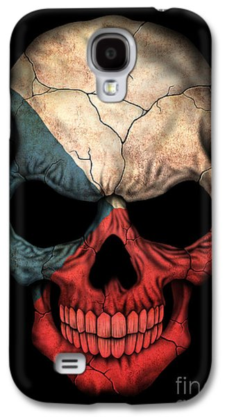 Dark Czech Flag Skull Galaxy S4 Case
