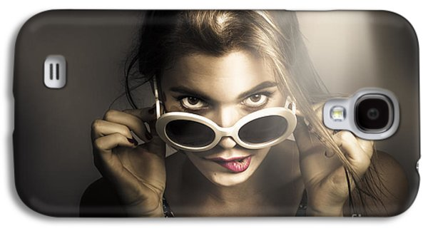 Dark Fashion Pinup Model Galaxy S4 Case