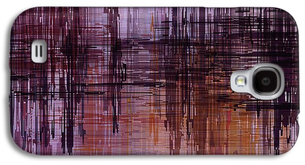 Dark Lines Abstract And Minimalist Painting Galaxy S4 Case by Ayse Deniz