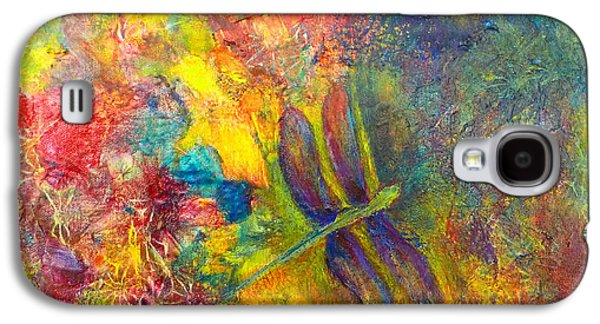 Galaxy S4 Case featuring the painting Darling Dragonfly by Claire Bull