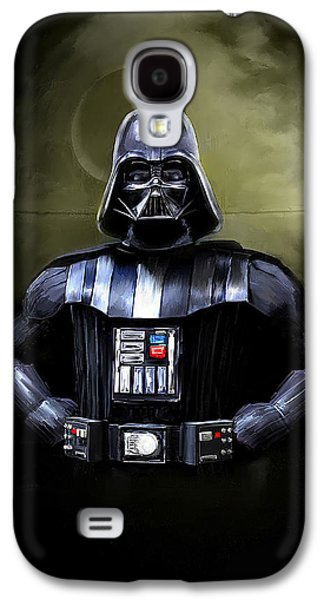 Movies Galaxy S4 Cases - Darth Vader Star Wars  Galaxy S4 Case by Michael Greenaway