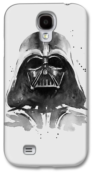 Darth Vader Watercolor Galaxy S4 Case by Olga Shvartsur