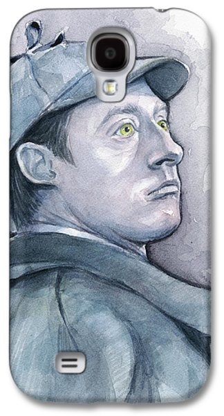 Data As Sherlock Holmes Galaxy S4 Case by Olga Shvartsur