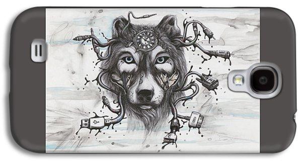 Data Wolf Galaxy S4 Case by Tai Taeoalii