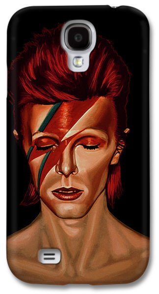 David Bowie Aladdin Sane Mixed Media Galaxy S4 Case