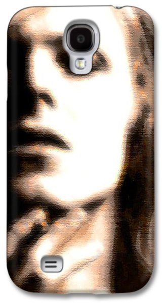 David Bowie / Through The Dream State Softly  Galaxy S4 Case by Elizabeth McTaggart