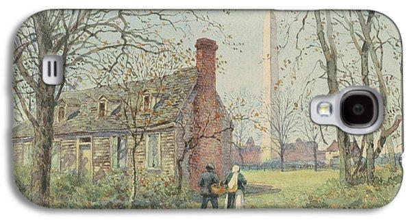 David Burns's Cottage And The Washington Monument, Washington Dc, 1892  Galaxy S4 Case