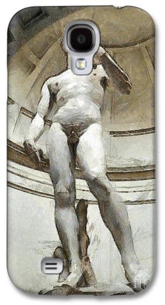 David By Michelangelo Pencil Galaxy S4 Case