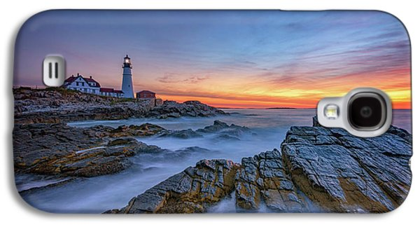 Dawn At Portland Head Lighthouse Galaxy S4 Case by Rick Berk
