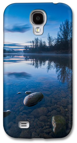 Blue Galaxy S4 Cases - Dawn at river Galaxy S4 Case by Davorin Mance