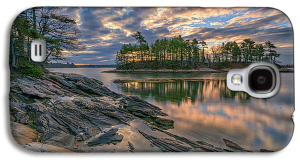Dawn At Wolfe's Neck Woods Galaxy S4 Case by Rick Berk