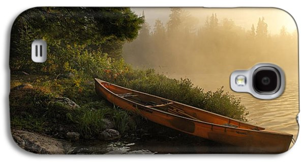 Dawn On Boot Lake Galaxy S4 Case by Larry Ricker
