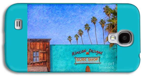 Day At The Surf Shop Galaxy S4 Case by David Millenheft