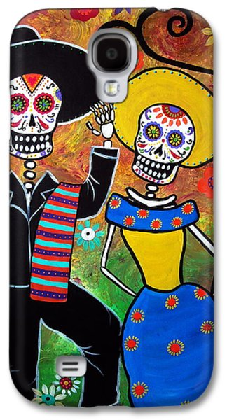Carter House Galaxy S4 Cases - Day Of The Dead Bailar Galaxy S4 Case by Pristine Cartera Turkus
