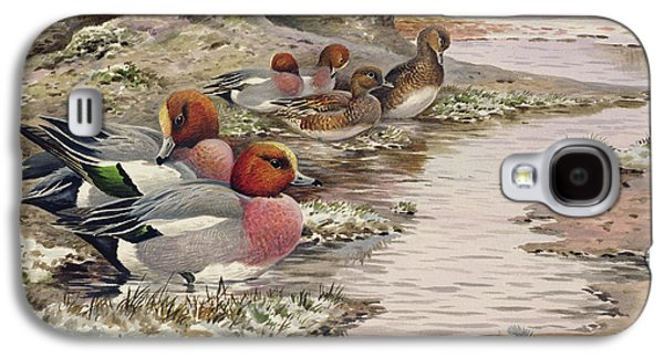Daybreak On The Washes  Wigeon Galaxy S4 Case by Carl Donner