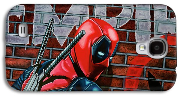 Deadpool Painting Galaxy S4 Case by Paul Meijering
