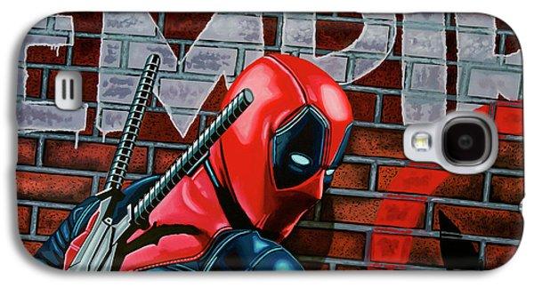 Deadpool Painting Galaxy S4 Case