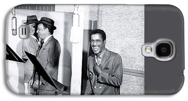 Dean Martin, Frank Sinatra And Sammy Davis Jr. At Capitol Records Studios Galaxy S4 Case by The Titanic Project