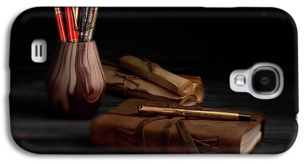 Swan Galaxy S4 Case - Dear Diary by Tom Mc Nemar