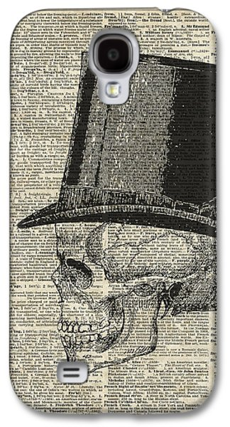 Death Skull With Victorian Hat Galaxy S4 Case by Jacob Kuch