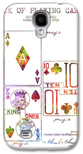 Deck Of Playing Cards Patent From 1932 - Charcoal Galaxy S4 Case by Aged Pixel