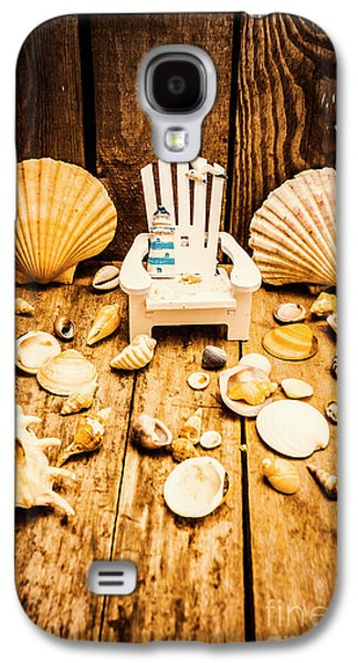 Deckchairs And Seashells Galaxy S4 Case by Jorgo Photography - Wall Art Gallery