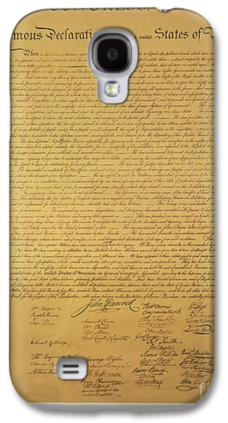 Declaration Of Independence Galaxy S4 Case by American School