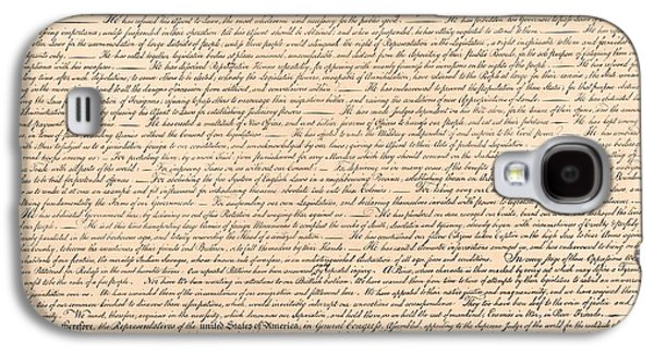Declarations Of Independence Galaxy S4 Case by Declarations of Independence