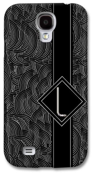 Deco Jazz Swing Monogram ...letter L Galaxy S4 Case by Cecely Bloom