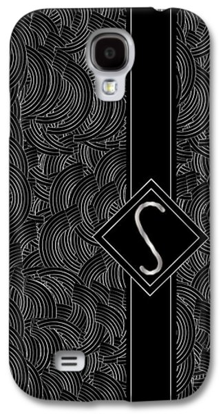 Deco Jazz Swing Monogram ...letter S Galaxy S4 Case by Cecely Bloom