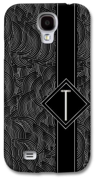 Deco Jazz Swing Monogram ...letter T Galaxy S4 Case by Cecely Bloom