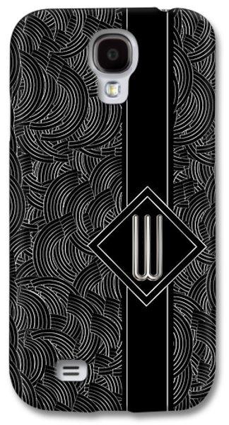 Deco Jazz Swing Monogram ...letter W Galaxy S4 Case by Cecely Bloom