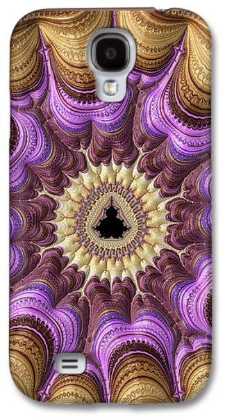 Decorative Luxe Mandelbrot Fractal Purple Gold Galaxy S4 Case by Matthias Hauser