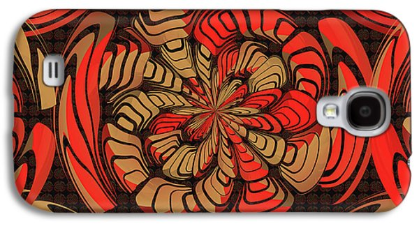 Decorative Red And Brown Galaxy S4 Case by Gaspar Avila