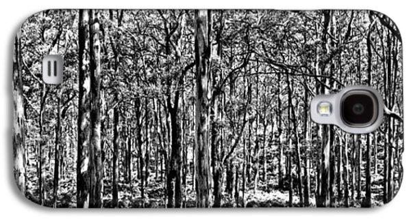 Deep Forest Bw Galaxy S4 Case by Az Jackson