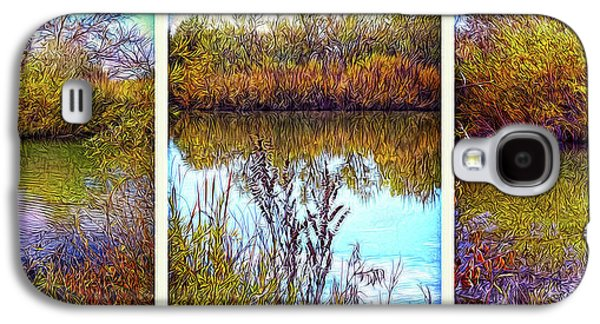 Deep Lake Reflections - Triptych Galaxy S4 Case