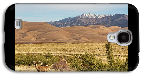 Galaxy S4 Case featuring the photograph Deer And The Colorado Sand Dunes by James BO Insogna