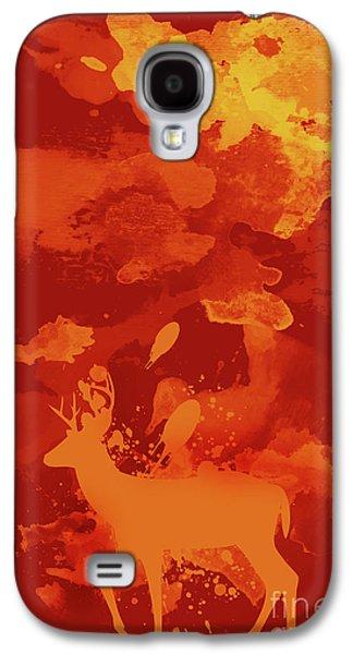 Deer Art Evening Galaxy S4 Case by Prar Kulasekara