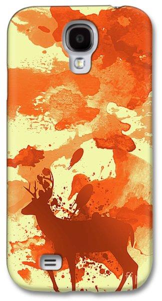 Deer Art Morning Galaxy S4 Case by Prar Kulasekara