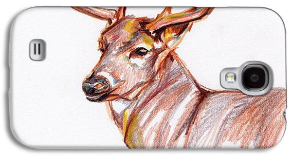 Deer In Pencil Galaxy S4 Case by Anne Seay
