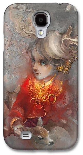 Deer Princess Galaxy S4 Case by Te Hu