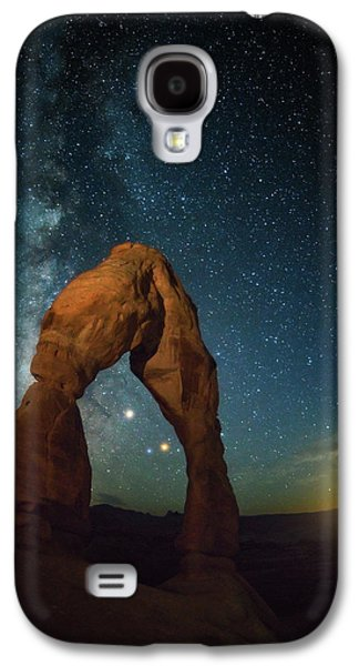 Delicate Arch Moonset Galaxy S4 Case by Darren White