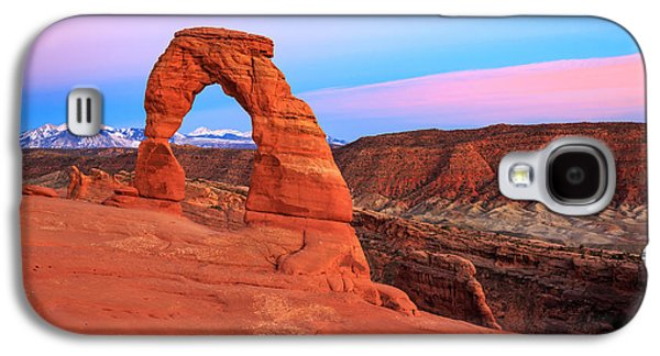 Delicate Arch Sunset Galaxy S4 Case by Johnny Adolphson