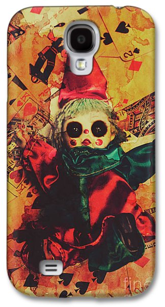 Demonic Possessed Joker Doll Galaxy S4 Case by Jorgo Photography - Wall Art Gallery