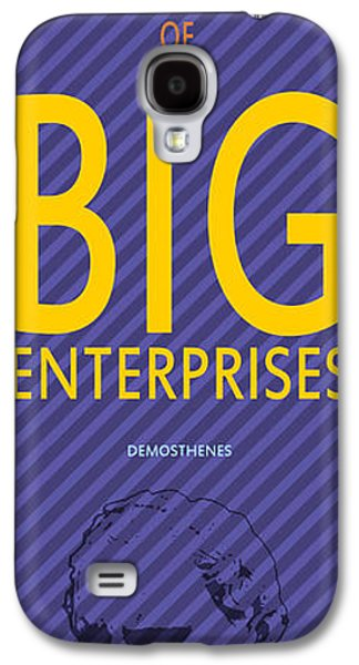 Demosthenes Quote - Small Oportunities Galaxy S4 Case by Pablo Franchi