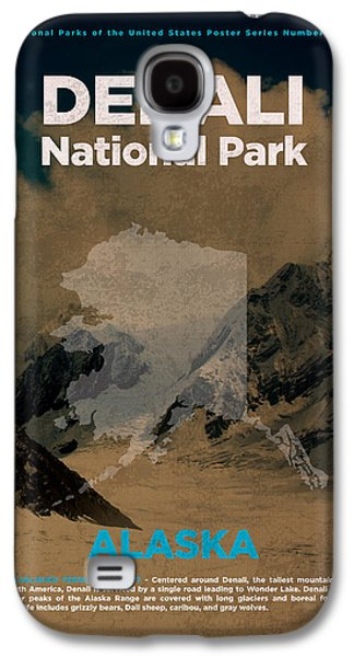 Denali National Park In Alaska Travel Poster Series Of National Parks Number 14 Galaxy S4 Case by Design Turnpike