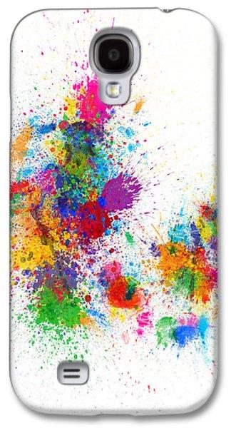 Denmark Map Paint Splashes Galaxy S4 Case by Michael Tompsett