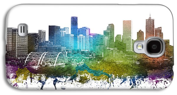 Denver Cityscape 01 Galaxy S4 Case by Aged Pixel