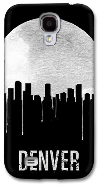 Denver Skyline Black Galaxy S4 Case by Naxart Studio