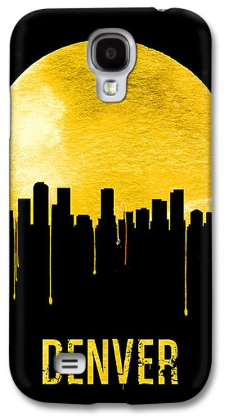 Denver Skyline Yellow Galaxy S4 Case by Naxart Studio
